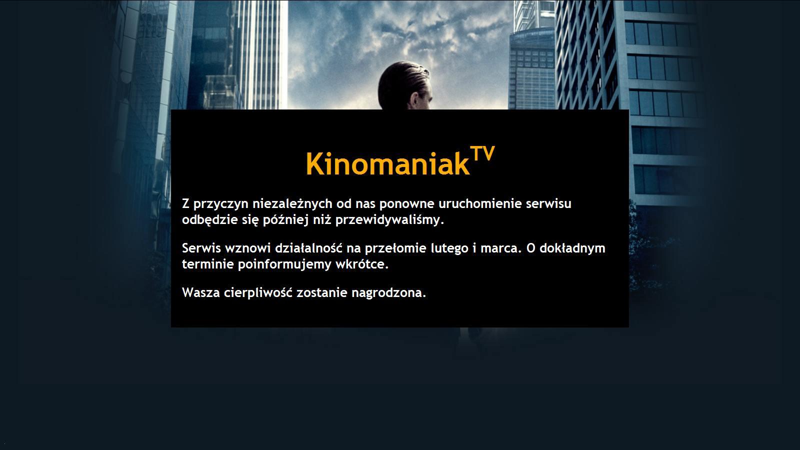 kinomaniak - informacja z połowy lutego